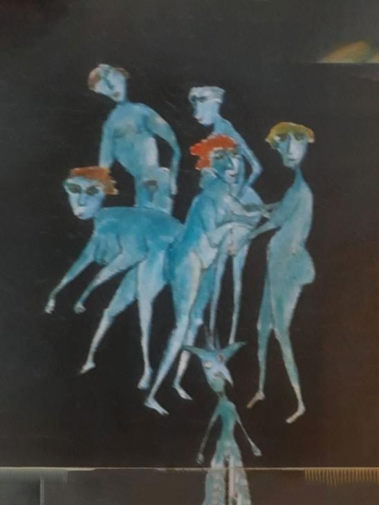Inspiration fra kalkmalerier nr. 2. 60x80 cm. priv.